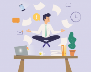 practicing mindfulness at your desk